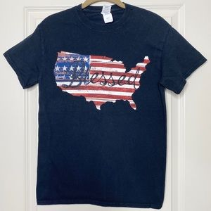 Blessed American Flag T-shirt size S